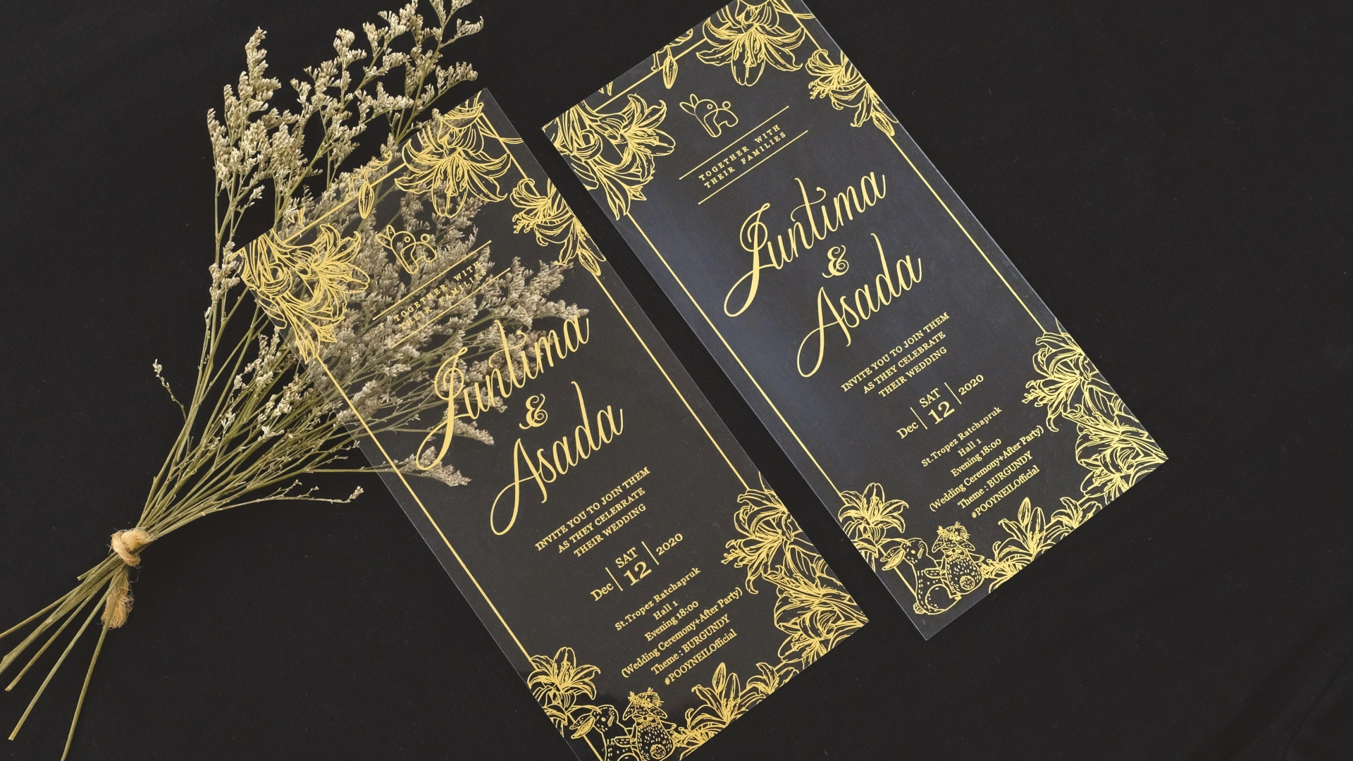 Portfolio A256LM ... Transparent Cards with Golden Brown Foil Stamping ... So Luxurious