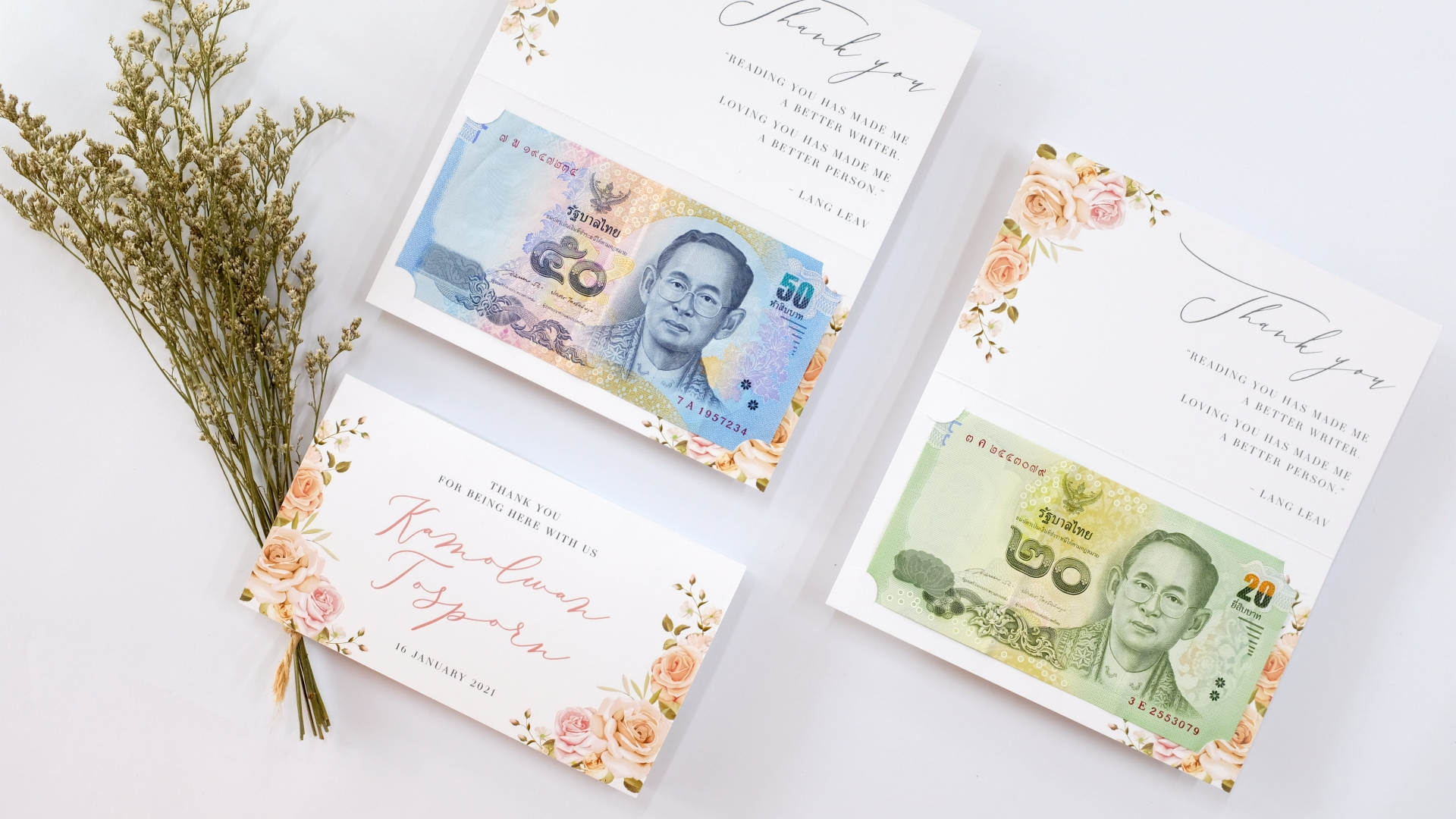 Portfolio Banknote Case B ... Floral Style done in a week!!!
